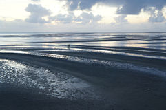 ludzie plażowi chodzić obraz stock