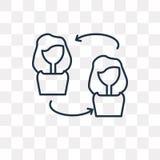 Ludzie Podłączeniowej wektorowej ikony odizolowywającej na przejrzystym tle ilustracja wektor