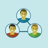 Ludzie podłączeniowi Ogólnospołeczne medialne ikony graficzne Zdjęcia Royalty Free