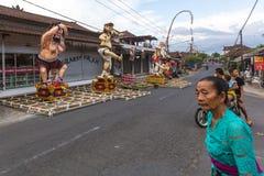 Ludzie podczas świętowania Nyepi - balijczyka cisza dzień zdjęcia royalty free