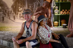 Ludzie podróży przy Ho Chi Minh miasta muzeum Fotografia Stock