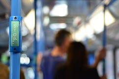 Ludzie podróży na jawnym autobusie Obrazy Stock