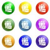 Ludzie pokój grupowych ikon ustawiającego wektoru ilustracja wektor