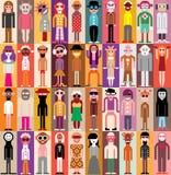 Ludzie portretów royalty ilustracja