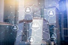 Ludzie powiązania i organizaci struktura wiązki komunikacyjne pojęcia rozmowy ma środki zaludniają socjalny Biznesu i technologii Zdjęcia Royalty Free