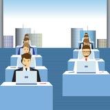 Ludzie pracuje w centrum telefonicznym officemates ilustracji