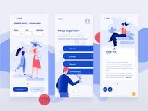 Ludzie pracy i oddziałać wzajemnie z przyrządami Dane biura i analizy sytuacje Płaska ilustracja Mobilny app szablon ilustracji