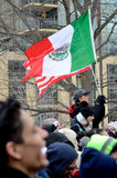 Ludzie protestuje przeciw Imigracyjnym prawom zdjęcie royalty free