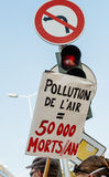 Ludzie protestuje przeciw zanieczyszczeniu powietrza Zdjęcie Royalty Free