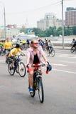 Ludzie przejażdżka rowerów Obrazy Royalty Free