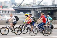 Ludzie przejażdżka rowerów Obraz Royalty Free