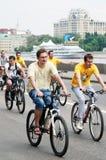Ludzie przejażdżka rowerów Zdjęcie Stock