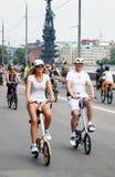 Ludzie przejażdżka rowerów Fotografia Royalty Free