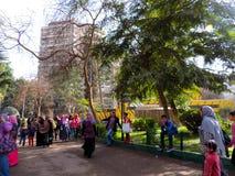 Ludzie przy afrykanina parkiem Zdjęcie Stock