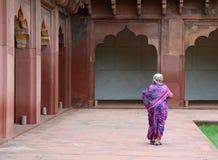 Ludzie przy Agra fortem w India Zdjęcia Stock