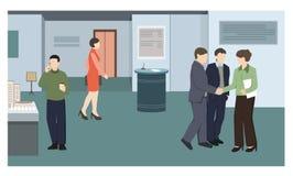 Ludzie przy biznesową wystawą ilustracji