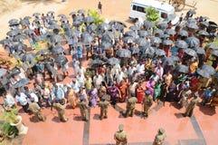 Ludzie przy obszarem wiejskim India Obraz Royalty Free