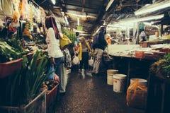 Ludzie przy Pasar Chow zestawem, Kuala Lumpur Fotografia Stock