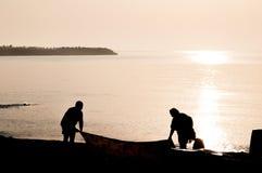 Ludzie przy plażą Fotografia Stock