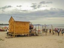 Ludzie przy plażą w Urugwaj zdjęcie stock