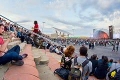Ludzie przy Primavera dźwięka 2015 festiwalem Zdjęcia Royalty Free
