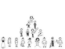 Ludzie ręka rysunku zdjęcia royalty free