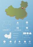 Ludzie republiki Porcelanowy mapy i podróży Infographic szablonu projekt Obrazy Stock
