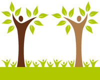Ludzie Rodzin Drzew Zdjęcia Stock