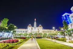 Ludzie s Komitetowego budynku w Saigon, Wietnam Zdjęcia Stock