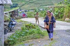 Ludzie Sa Pa w Wietnam Zdjęcie Royalty Free