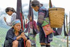 Ludzie Sa Pa, Wietnam Zdjęcia Stock