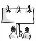 ludzie się billboardu reklamowego ilustracja wektor