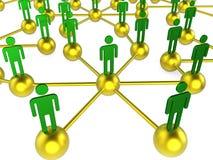 Ludzie sieci Wskazują gadkę Digital I Komunikować ilustracja wektor
