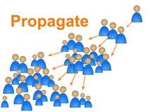 Ludzie sieci Znaczą Ogólnospołecznego Medialnego marketing I Komunikują ilustracja wektor
