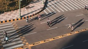 ludzie spaceru światło zdjęcie royalty free