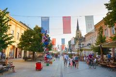 Ludzie Starego Grodzkiego Novi Sad zdjęcia royalty free