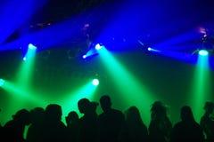 ludzie sylwetek tańczące Fotografia Stock