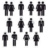 Ludzie symboli/lów Zdjęcie Stock