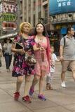 Ludzie Szanghaj bogaty miasto w Chiny Zdjęcie Royalty Free