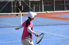 Ludzie sztuka tenisa Fotografia Royalty Free
