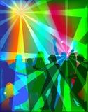 Ludzie tanczy przy przyjęciem ilustracja wektor