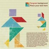 ludzie tangram Fotografia Royalty Free