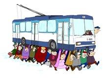 Ludzie target576_1_ tramwaj Zdjęcie Royalty Free