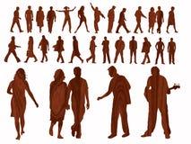 ludzie tekstury lasu. ilustracji