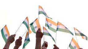 Ludzie trzyma indianin flagi zdjęcie wideo