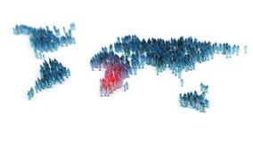 Ludzie tworzy światową mapę Obraz Stock