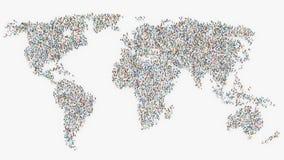 Ludzie tworzy światową mapę Obraz Royalty Free