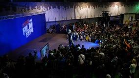 Ludzie uczęszczają Gamefilmexpo festiwal zbiory