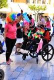 Ludzie uczestniczy w aktywność dla światowego dnia cerebralny palsy fotografia royalty free