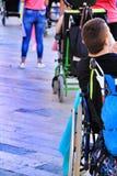 Ludzie uczestniczy w aktywność dla światowego dnia cerebralny palsy zdjęcie royalty free